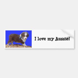I love my Aussie! Bumper Sticker