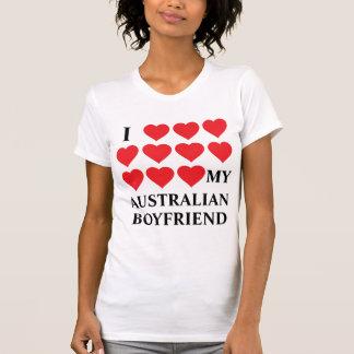 I love my Australian Boyfriend Tshirts