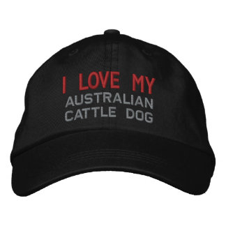 I Love My Australian Cattle Dog Breed Embroidered Hat