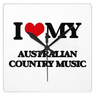 I Love My AUSTRALIAN COUNTRY MUSIC Clocks