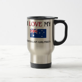 I Love My Australian Girlfriend Coffee Mugs
