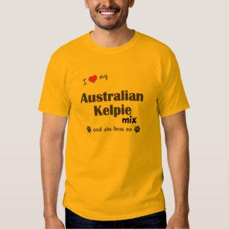 I Love My Australian Kelpie Mix (Female Dog) Shirts