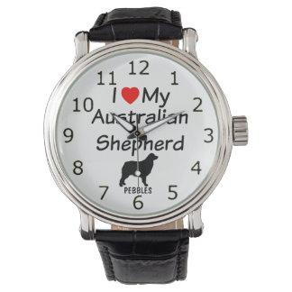 I Love My Australian Shepherd Dog Watch