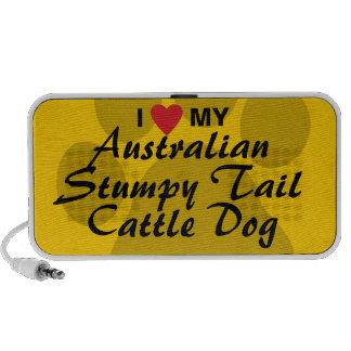 I Love My Australian Stumpy Tail Cattle Dog iPod Speaker