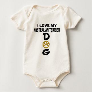 I Love My Australian Terrier Dog Designs Baby Bodysuit