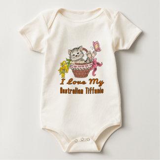 I Love My Australian Tiffanie Baby Bodysuit