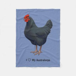 I Love My Australorp Chicken Fleece Blanket
