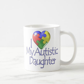 I Love My Autistic Daughter Mugs