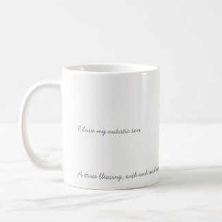 I love my autistic son mug