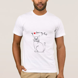 I love my awesome Cat, Cool Mens T-Shirt