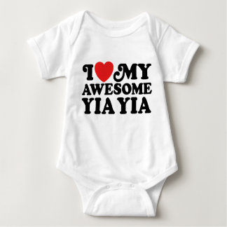 I Love My Awesome Yia Yia Baby Bodysuit