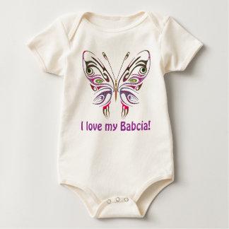 I Love My Babcia Personalized Baby Bodysuit