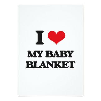 "I love My Baby Blanket 5"" X 7"" Invitation Card"