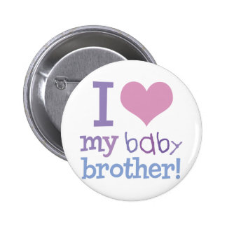 I Love My Baby Brother 6 Cm Round Badge
