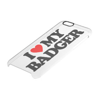 I LOVE MY BADGER CLEAR iPhone 6/6S CASE