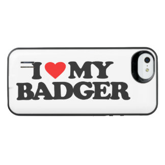I LOVE MY BADGER iPhone SE/5/5s BATTERY CASE