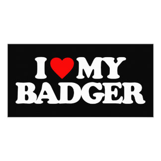 I LOVE MY BADGER PHOTO CARDS