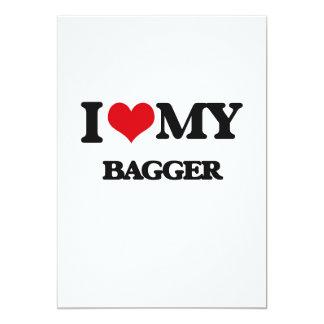 I love my Bagger 13 Cm X 18 Cm Invitation Card