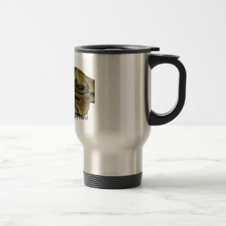 I love my ball python! travel mug