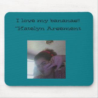 """I love my bananas"" Mousepad"