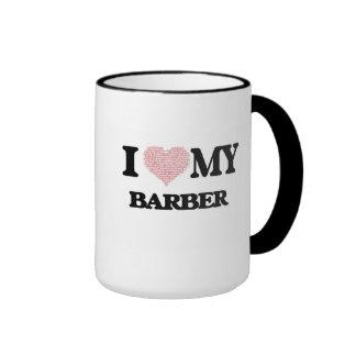 I love my Barber (Heart Made from Words) Ringer Mug
