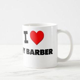 I love My Barber Basic White Mug
