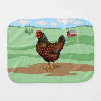 I Love My Barnevelder Chickens Burp Cloth