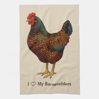 I Love My Barnevelder Chickens Towels