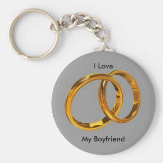 I Love My............. Basic Round Button Key Ring