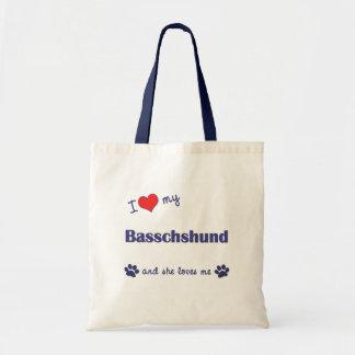 I Love My Basschshund Female Dog Bag