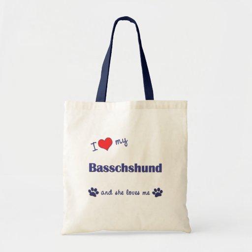 I Love My Basschshund (Female Dog) Bag