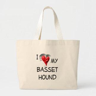 I Love My Basset Hound Bags