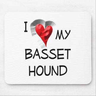 I Love My Basset Hound Mouse Pad