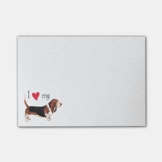 I Love my Basset Hound Post-it Notes