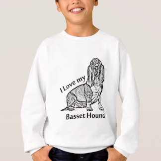 I Love my Basset Hound Sweatshirt