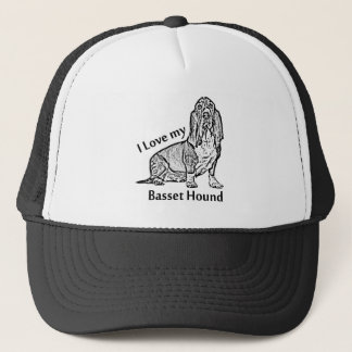 I Love my Basset Hound Trucker Hat