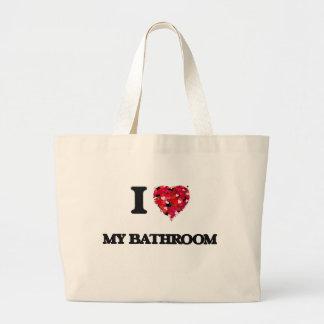 I love My Bathroom Jumbo Tote Bag