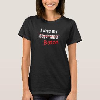 I Love My Baton Twirling Gymnastics Funny T-Shirt