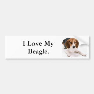 I Love My Beagle. Bumper Sticker