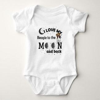 I Love My Beagle Casual Apparel Baby Bodysuit