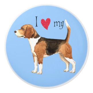 I love my Beagle Ceramic Knob