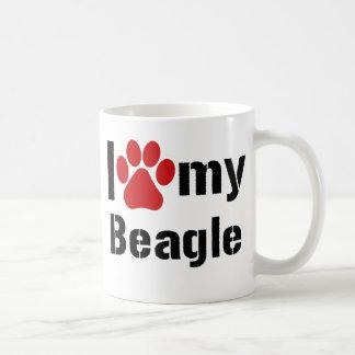 I Love My Beagle Coffee Mug