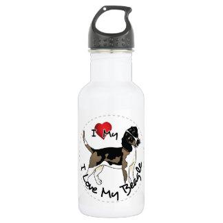I Love My Beagle Dog 532 Ml Water Bottle