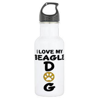 I Love My Beagle Dog Designs 532 Ml Water Bottle
