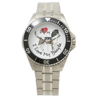 I Love My Beagle Dog Watch