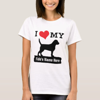I Love My Beagle Value Tee   Personalize It!