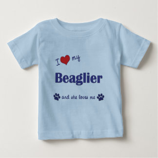 I Love My Beaglier (Female Dog) Baby T-Shirt