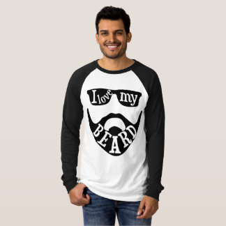 """I love my beard"" quote T-Shirt"