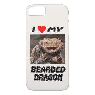 I LOVE MY BEARDED DRAGON - ADD YOUR OWN PHOTO iPhone 8/7 CASE