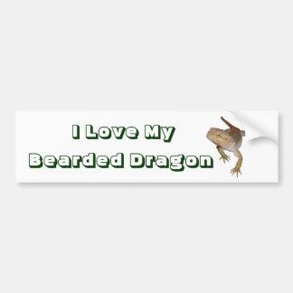 I Love My Bearded Dragon Bumper Sticker